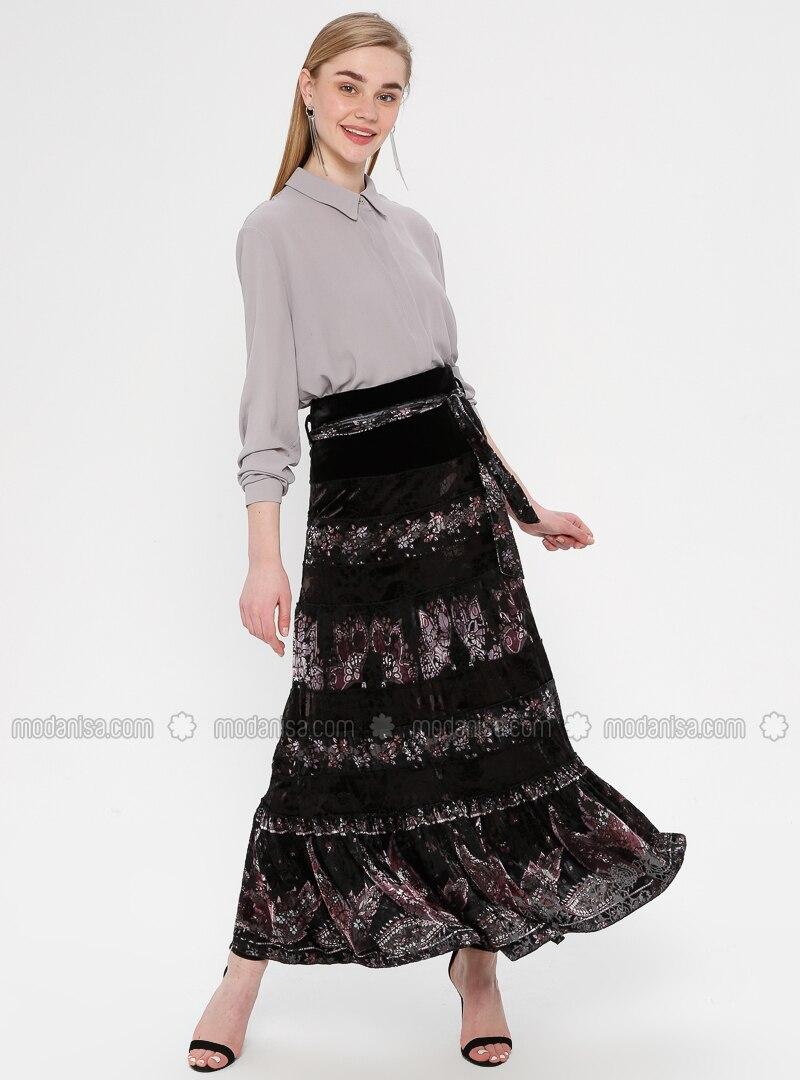Black - Powder - Multi - Fully Lined - Skirt