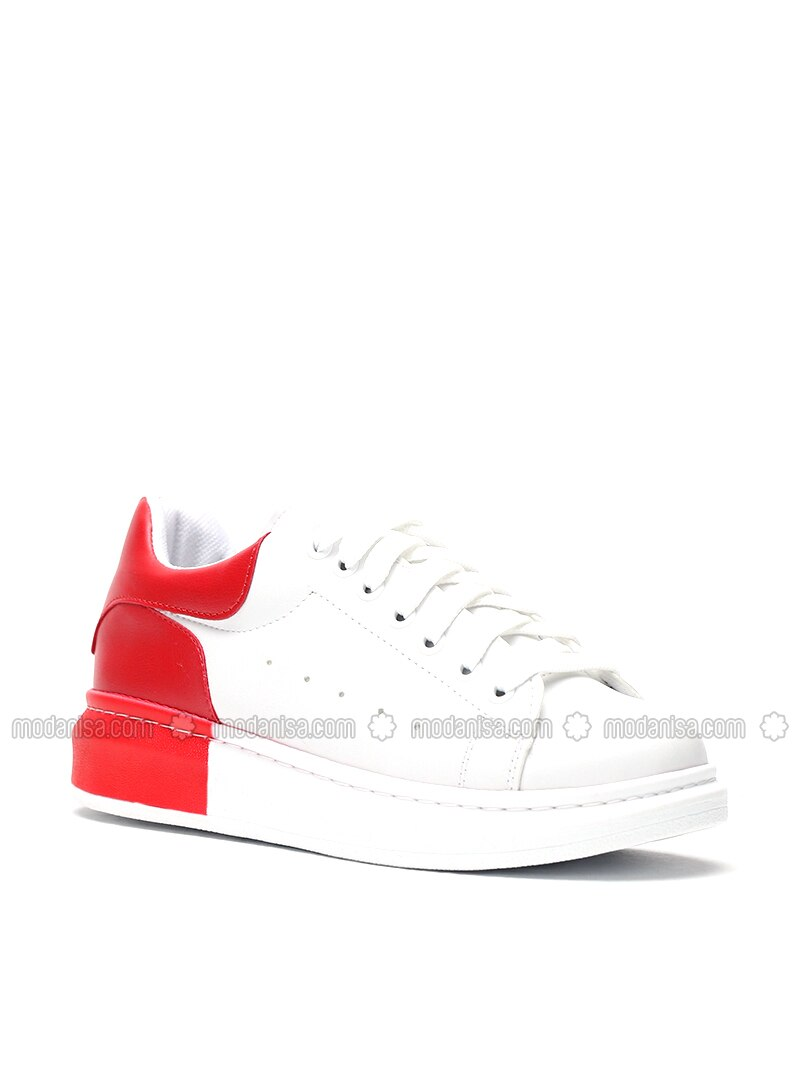Red - White - Sport - Shoes