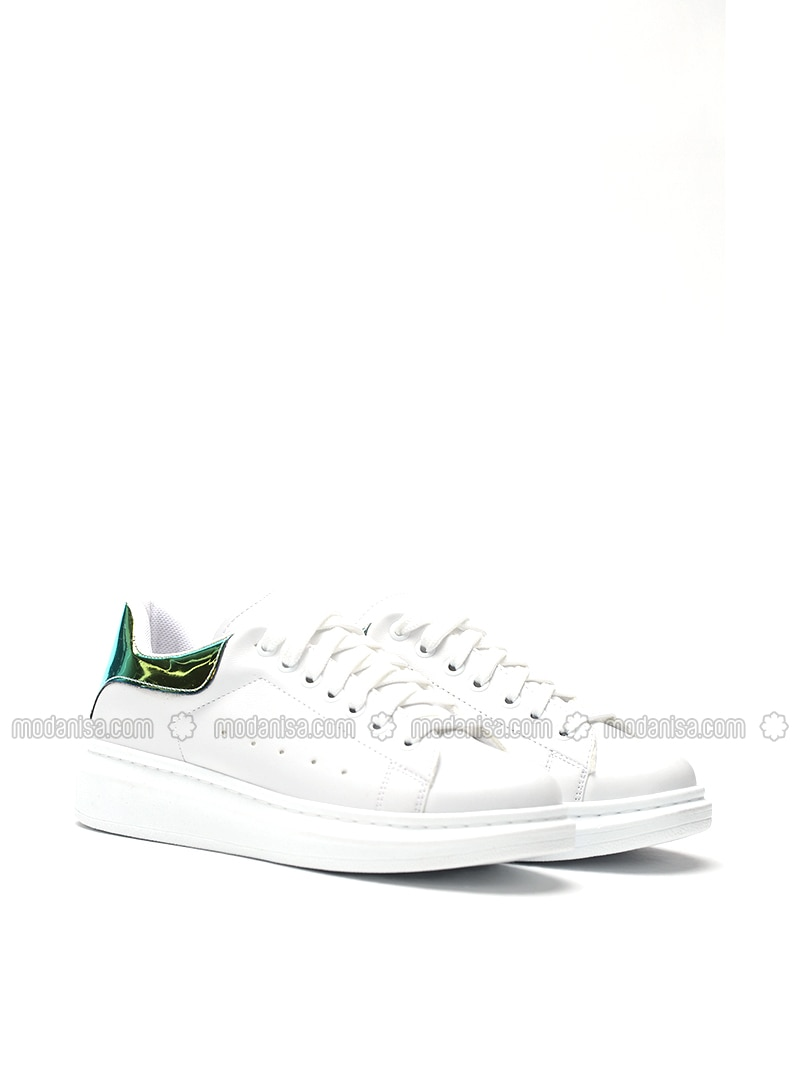White - Yellow - Sport - Shoes