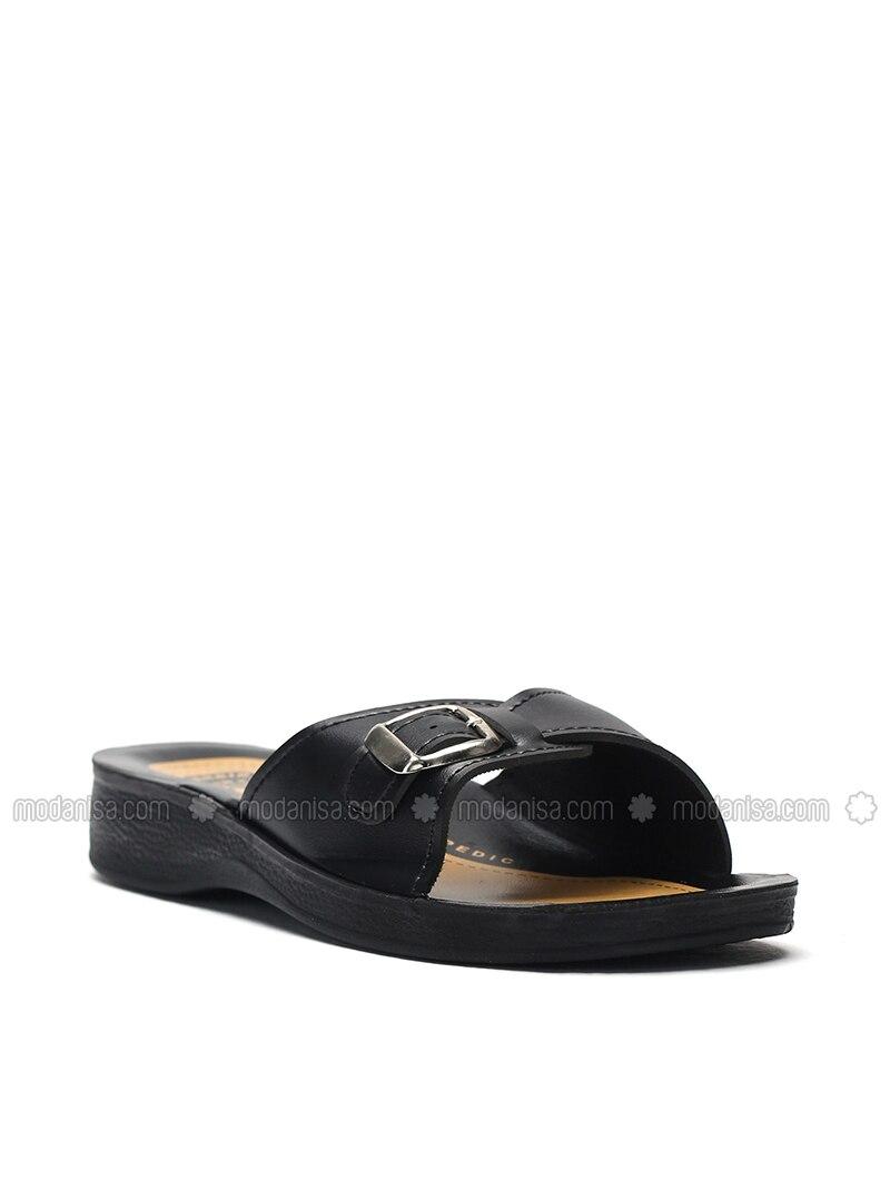 Black - Petrol - Sandal - Slippers