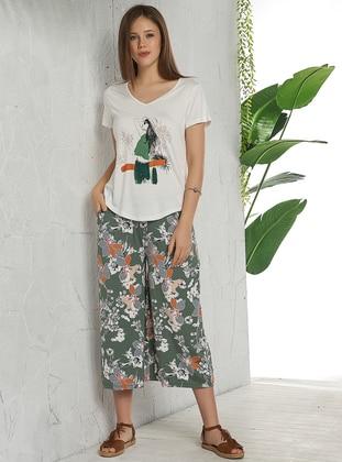 Green - Ecru - Multi - Pyjama