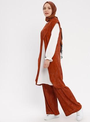 White - Ecru - Terra Cotta - Unlined - Suit
