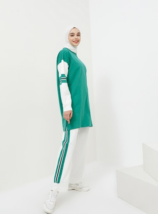 Green - Green Almond - Crew neck - Tracksuit Set
