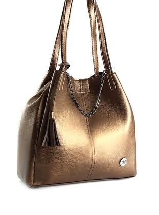 Brown - Gold - Shoulder Bags