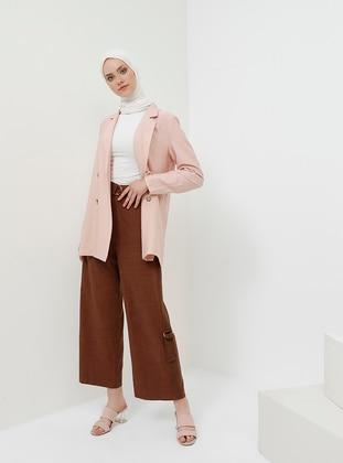Brown - Viscose - Pants
