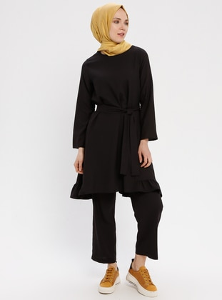 Black - Unlined - Suit