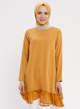 Mustard - Polo neck - Tunic