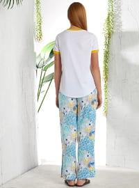 Blue - White - Multi - Pyjama