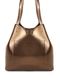 Brown - Gold - Shoulder Bags