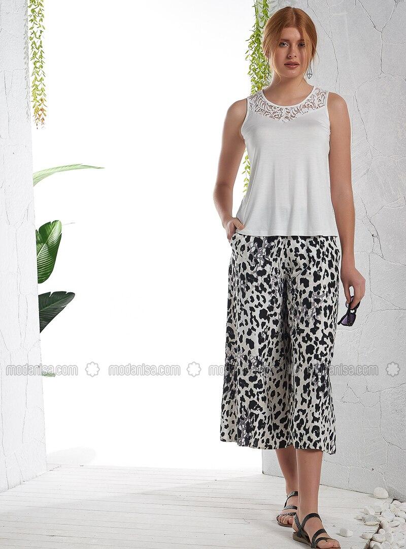White - Leopard - Pyjama
