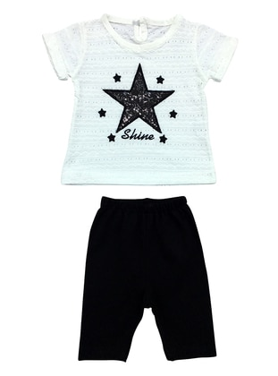 Crew neck - Cotton - Unlined - White - Baby Suit