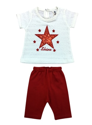 Crew neck - Cotton - Unlined - Red - Baby Suit