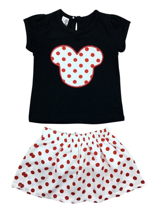 Polka Dot - Crew neck - Cotton - Unlined - Red - Baby Suit