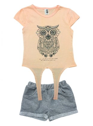 Crew neck - Cotton - Unlined - Pink - Girl Suit