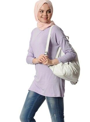 Lilac - Crew neck - Viscose - Tunic