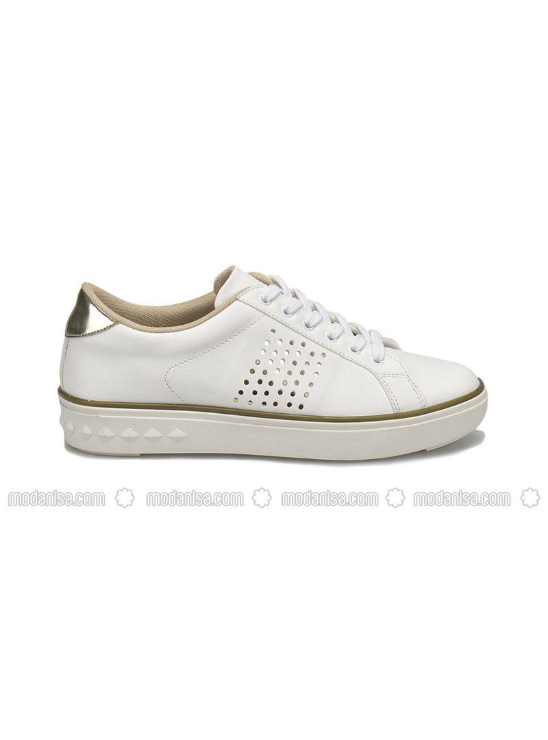 e37a2c3b51eda 18S-532 Beyaz Kadın Ayakkabı - Beyaz
