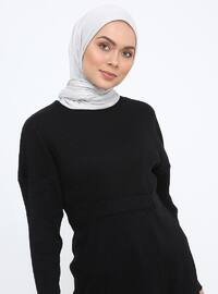 Black - Crew neck - Cotton - Tunic