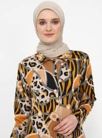 Mustard - Multi - Point Collar - Tunic