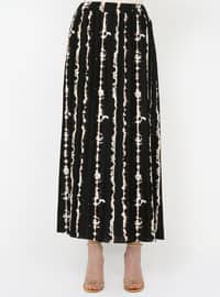 Black - Minc - Ecru - Leopard - Unlined - Skirt