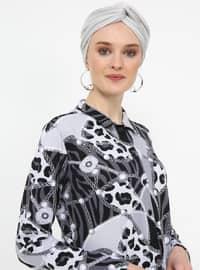 Gray - Multi - Point Collar - Tunic