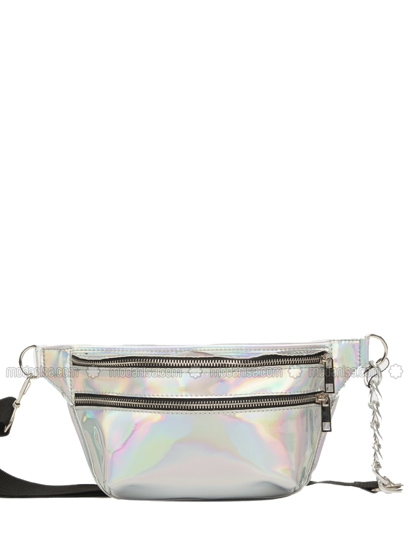 Silver tone - Satchel - Bum Bag
