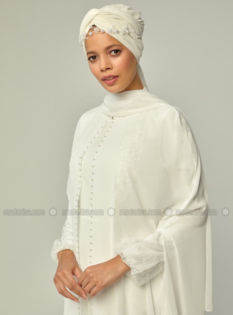 White - Shawl Collar - Unlined - Poncho
