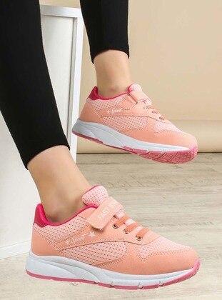 Salmon - Fuchsia - Sport - Casual - Girls` Shoes - Fast Step