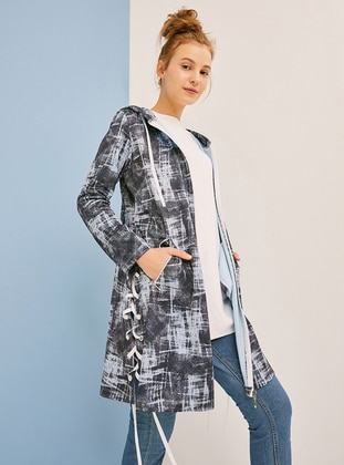 Baby Blue - Multi - Unlined - Trench Coat