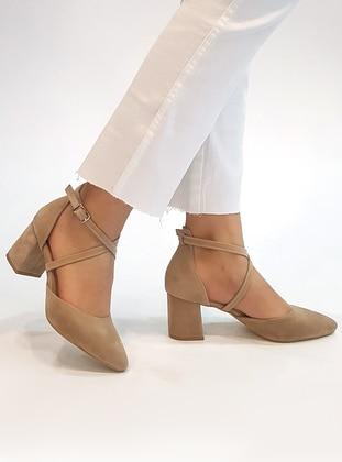 Beige - High Heel - Heels - Marjin