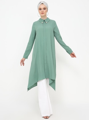 Green Almond - Point Collar - Tunic