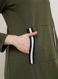 Khaki - Unlined - Cotton - Dress