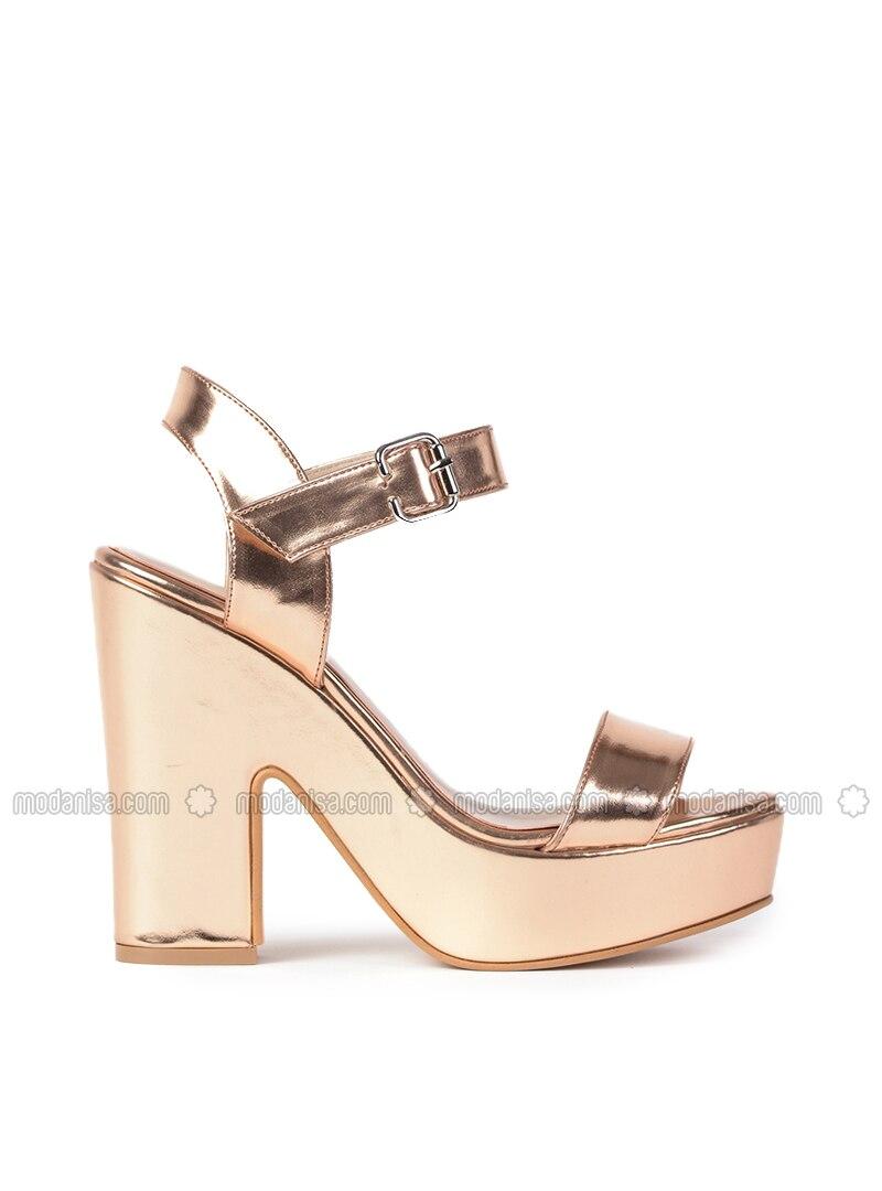 Metallic - Rose - High Heel - Heels