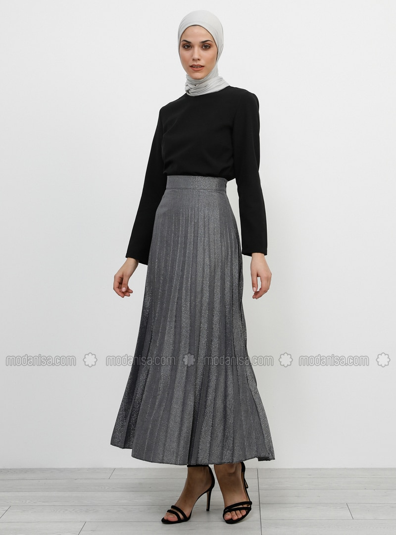 Silver tone - Unlined - Viscose - Skirt