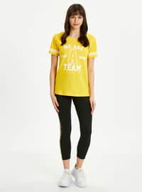 Yellow - Crew neck - T-Shirt