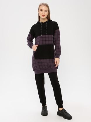 Black - Purple - Multi - Tracksuit Set