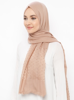 Gold - Plain - Cotton - Shawl
