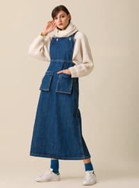 Blue - Unlined - Dress
