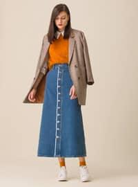 Blue - Unlined - Skirt