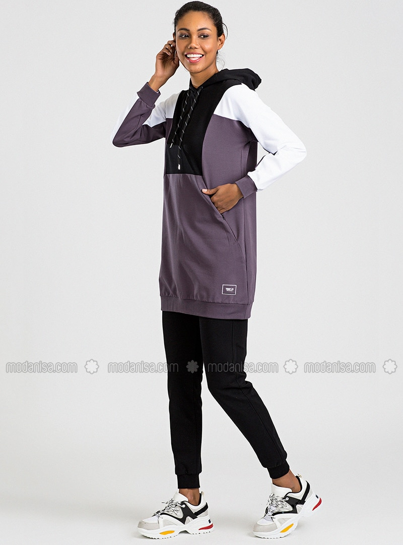 Black - Purple - Tracksuit Set