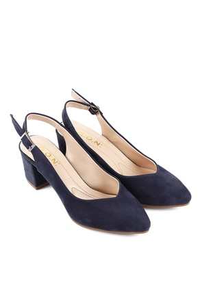 Navy Blue - High Heel - Casual - Shoes