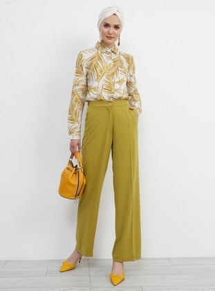 Mustard - Olive Green - Pants