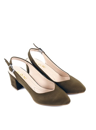 Khaki - High Heel - Casual - Shoes