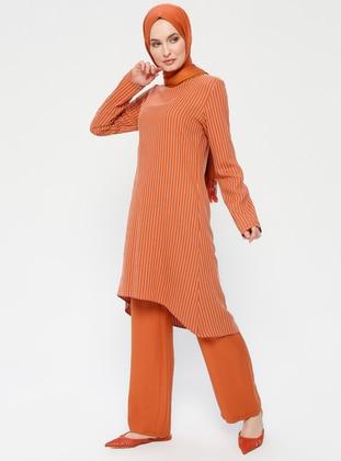 Terra Cotta - Stripe - Unlined - Suit