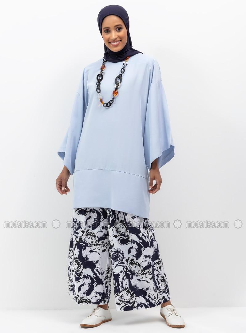Black - White - Navy Blue - Multi - Cotton - Pants