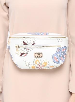 White - Clutch - Bum Bag - Pierre Cardin Çanta