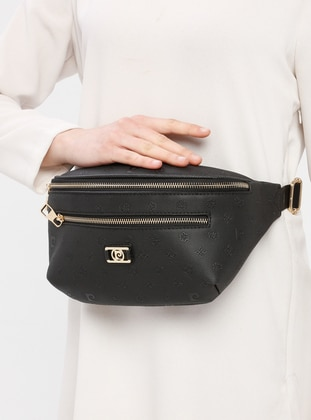 Black - Clutch - Bum Bag - Pierre Cardin Çanta