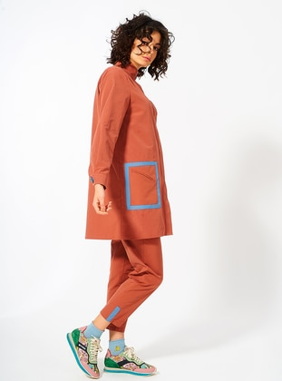 Terra Cotta - Cotton - Trench Coat
