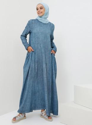 ec04d6e5282cd Mavi Tesettür Elbise Modelleri ve Fiyatları - Modanisa.com