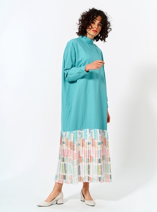 Mint - Crew neck - Unlined - Cotton - Dress