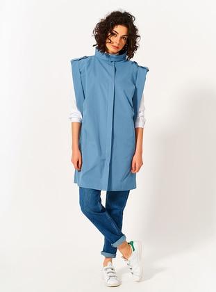Blue - Cotton - Vest